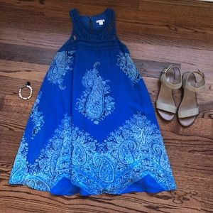 NWOT Blue Paisley Dress